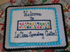 First Class Learning cake